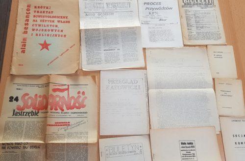 Materiały archiwalne otrzymane do skanowania