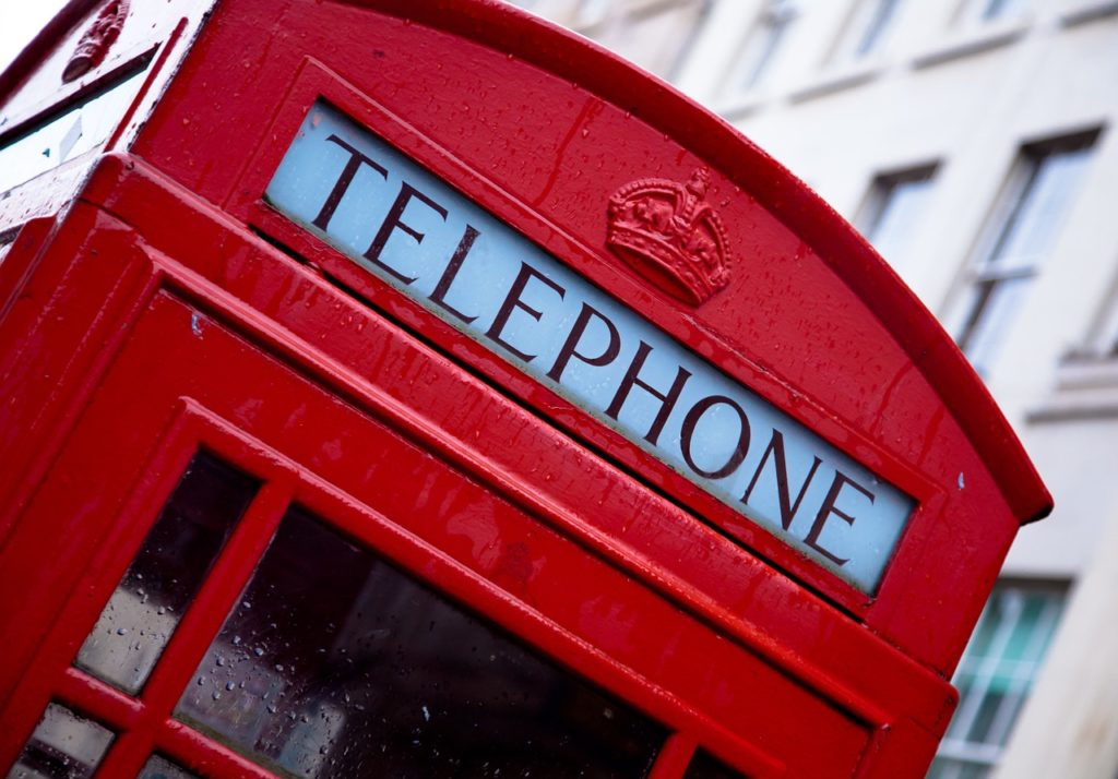telephone, london, red