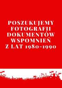 Plakat akcji poszukiwania archiwaliów